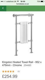 Kingston heated towel rail