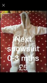 Next snowsuit 0-3 mths