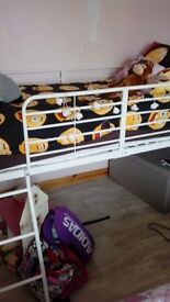 Midsleeper bed and mattress for sale