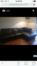 Leather Sofa from Next and Matching Light
