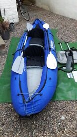 SEVYLOR COLORADO KCC335 2 PERSON INFLATABLE KAYAK WITH PADDLES, PUMP AND CARRY BAG