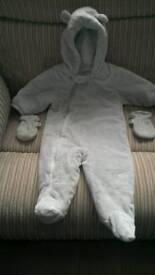 Next snow suit. 6-9 months.