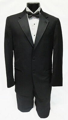 54 Regular New Mens Designer Calvin Klein 2 Button Wool Tuxedo Jacket Big & Tall