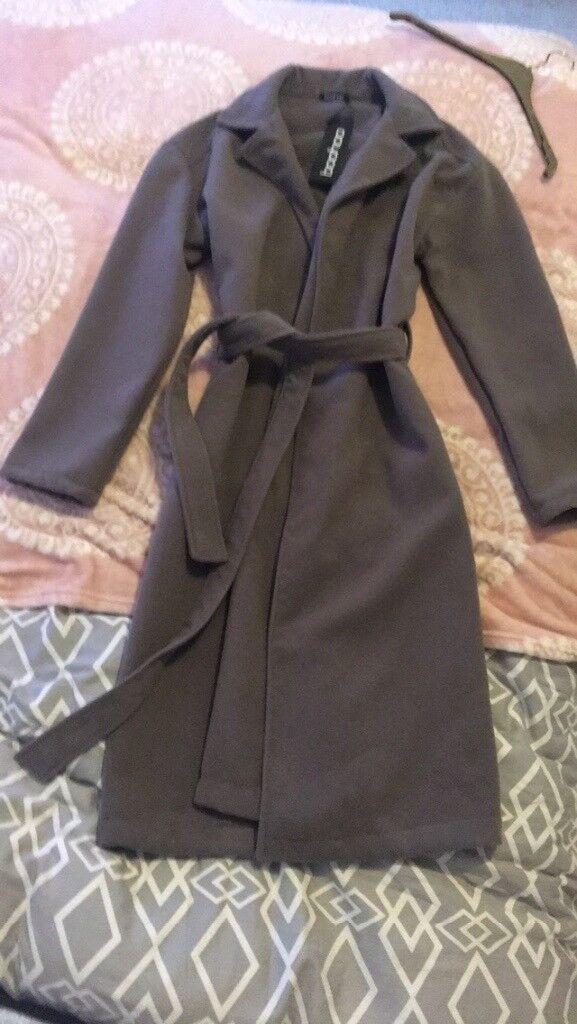 Brand new bohoo grey coat