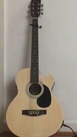 Eastcoast SA40 Mini Jumbo Electro Acoustic Guitar in Natura