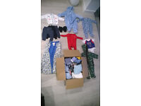 Full box of baby boy's clothing 0-6 months