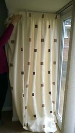 """Pair of fully lined curtains 90"""" Wide x 90"""" Drop"""