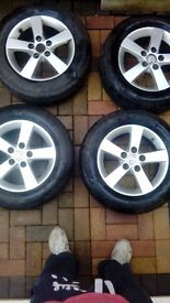 Mazda 2 ,3 alloys with tyres