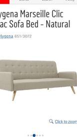 Hygena clic clac sofa bed