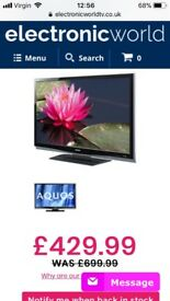 Tv sharp 46 in £160