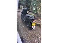 sports moped 50cc (66 plate) 2017 1 year old!