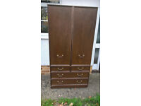 tallboy style wardrobe with drawers