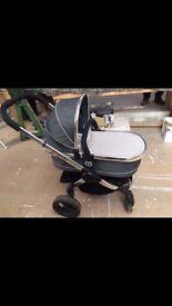 iCandy Peach Black Jack Standard Single Seat Stroller