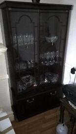 Two Mahogany Cabinets