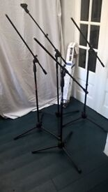 Boom Microphone Stands x 4. Various makes. Used.