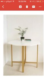 Urban outfitters folding dining table