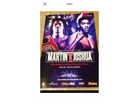 Anthony Joshua v Charles Martin official fight programme mint condition