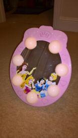 Disney princess light up mirror