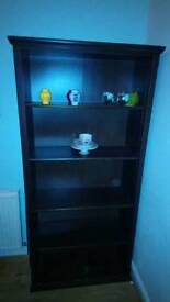 Chocolate wooden bookcase