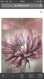 Lilac Flower Canvas Picture