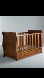 Cot bed with draw