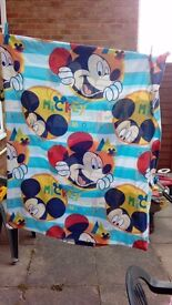 Mickey mouse toddler duvet cover and pillow case