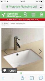 Under counter bathroom sink/basin 470 x355mm