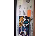 BARGAIN: 2 great NFL tickets together Sept 24 Ravens v Jaguars- row 2 seats £80each