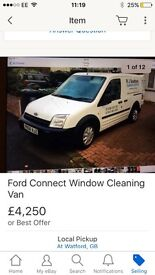 Ford Connect window cleaning van for sale
