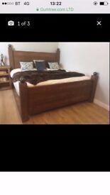 kingsize solid oak bed frame