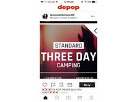 2x 3 day standard camping tickets