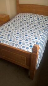 double bed woth mattress