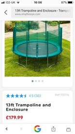 12ft trampoline only bought last Xmas and hardly used .