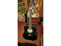 STAGG Acoustic Guitar // Black // Carry Case *Learn Guitar In 2017*