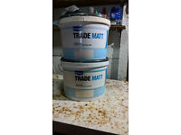Approx 13 litres of Wickes Magnolia Trade Matt Emulsion