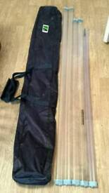 Preston fishing pole / rod bag and top kit tubes