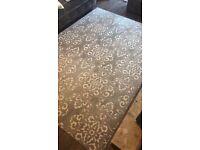 Brand new damask rug