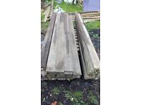 DECKING BOARDS AND SCANT TREATED 8ft LONG, THE PRICE FOR EACH !