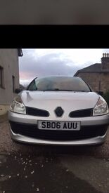 06 Plate Renault Clio 1.5 DCI 3DR Expression, Full years MOT,