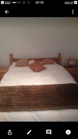 Solid antique pine bedroom furniture