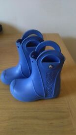 Blue Crocs wellies infant size 9