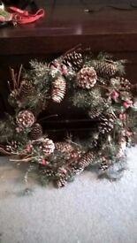 3x Christmas wreaths