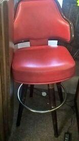 American gasser 1960's red poker / casino chair