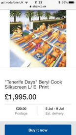 Beryl Cook Tenerife Days Framed limited edition print