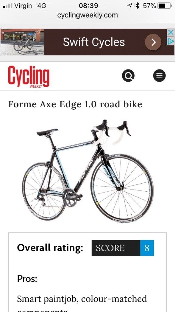 Forme Axe Edge 1.0 Carbon bike. Six months old