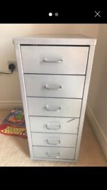 2 x small metal cabinets