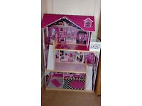 Large doll house and barbie / monster high bundle