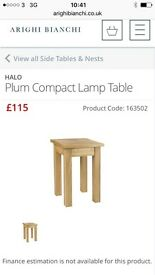 Halo plum lamp table New paid £115.00 selling for £55