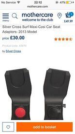 Silver Cross Surf car seat adaptors