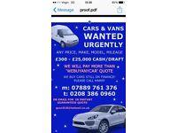 Vans,commercials,wanted sell buy my van buyers we pay top money for your van vans wanted urgently